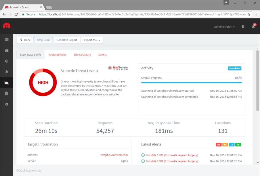 OWASP Top 10 Compliance   Acunetix